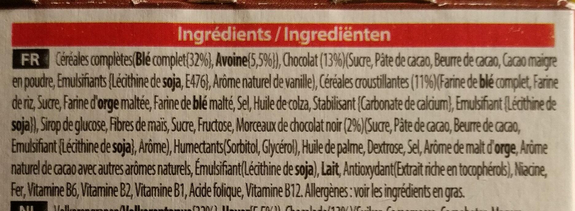 Special K - Céréales chocolat noir - Ingrédients - fr