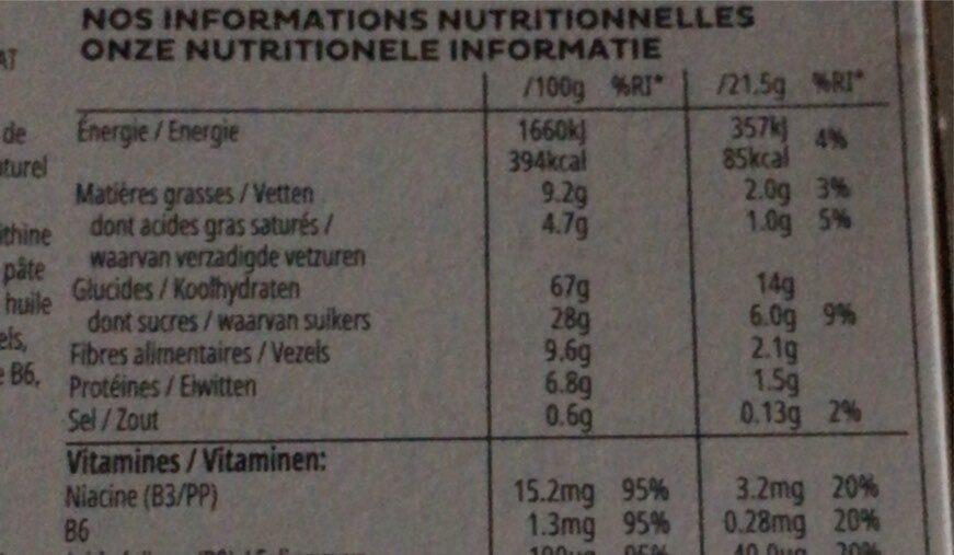 Special K - Céréales chocolat noir - Informations nutritionnelles - fr