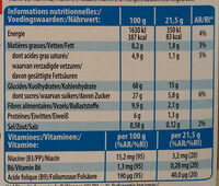 Spécial K Barres Croustillantes fruits rouges - Voedingswaarden