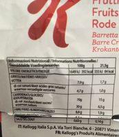 Spécial K Fruits Rouge - Informations nutritionnelles - fr