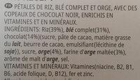 Special K feuilles de Chocolat Noir (Format Maxi) - Ingrédients - fr