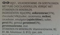 Special K feuilles de Chocolat Noir (Format Maxi) - Ingrediënten - nl