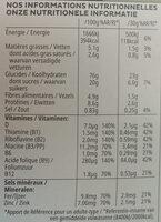 Special K feuilles de Chocolat Noir (Format Maxi) - Informations nutritionnelles - fr