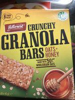Crunchy granola bars - Product
