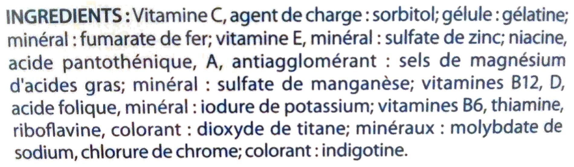 Multivitamines 1 par jour - Ingredients