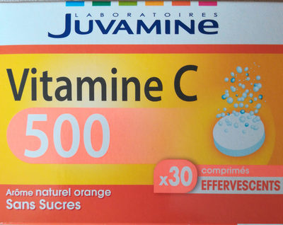 Juvamine Vitamine C 500 comprimés effervescents - Produit - fr