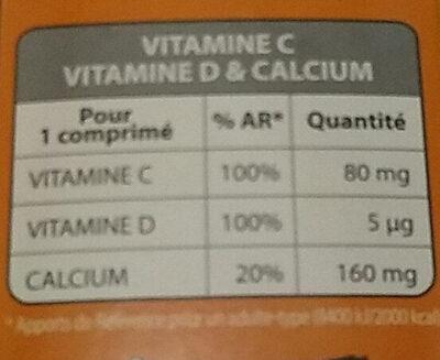 Vitamine C & Vitamine D & Calcium - Informations nutritionnelles - fr