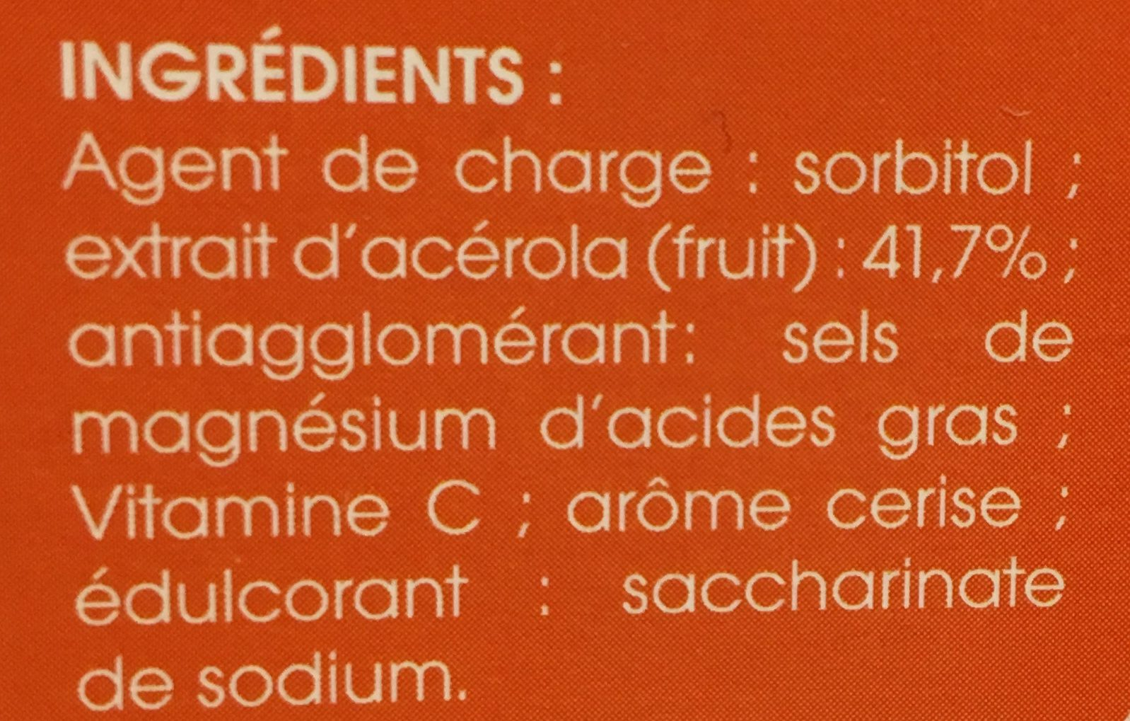 Vitamine C Acérola 1000 - Ingrédients - fr