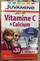 Junior Vitamine C & Calcium goût Fraise à croquer - Produit