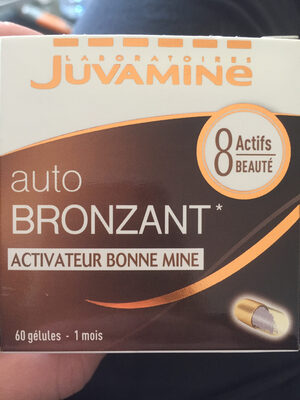 Juvamine Bronzage Sublime Autobronzant. BT - Informations nutritionnelles