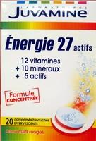 Juvamine Energie 27 actifs Arôme fruits rouges - Produit - fr