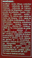 Juvamine Energie 27 actifs Arôme fruits rouges - Ingrédients - fr