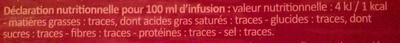 Transit - Arôme citron - réglisse - Informations nutritionnelles - fr