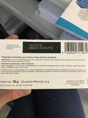 Celliflore Réveil Tonique - Ingrédients - fr
