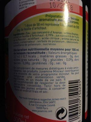 Artichaut détox - Informations nutritionnelles - fr