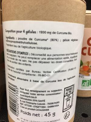 Curcuma - Ingrédients