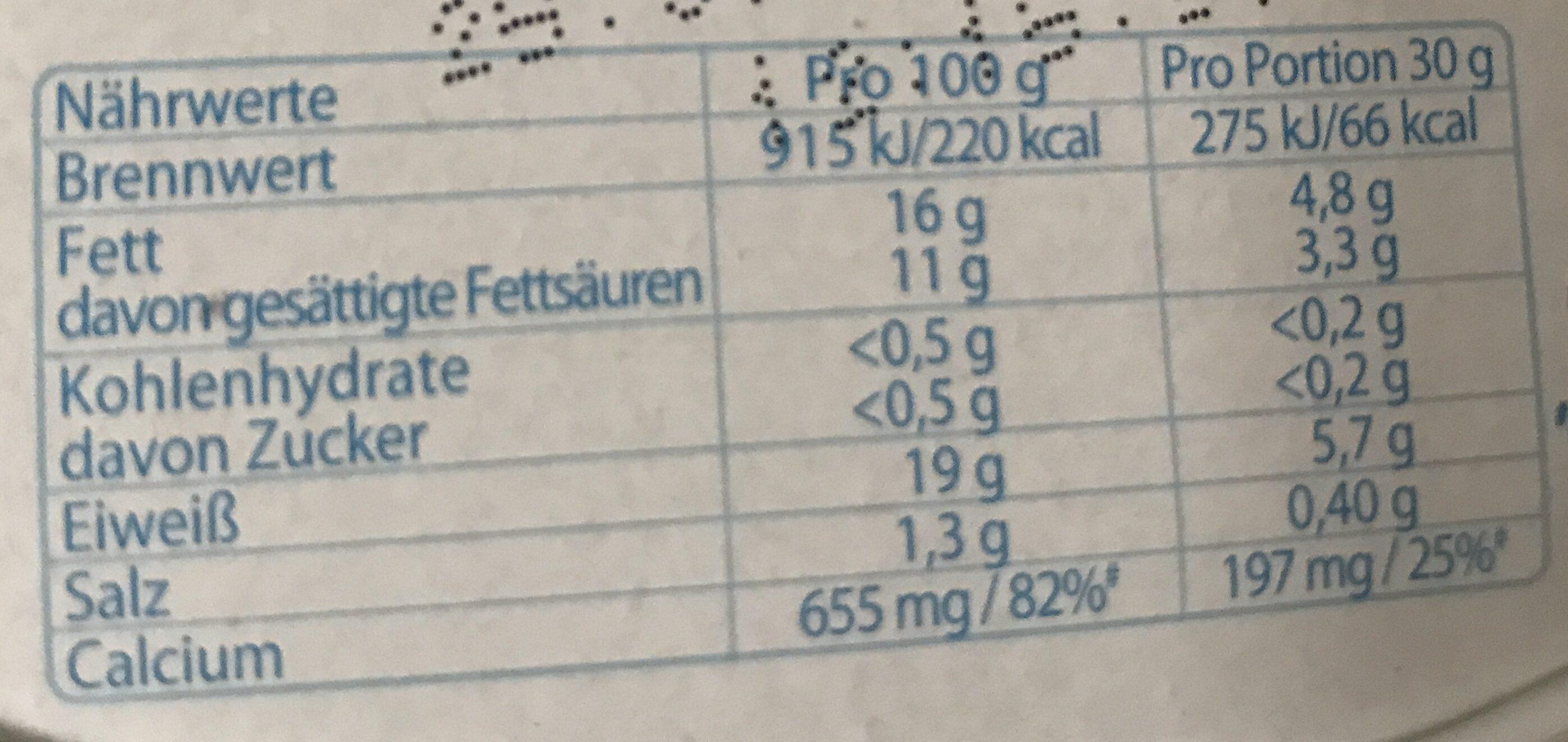 Géramont Cremig leicht - Nutrition facts