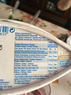 Caprice des dieux - Nutrition facts