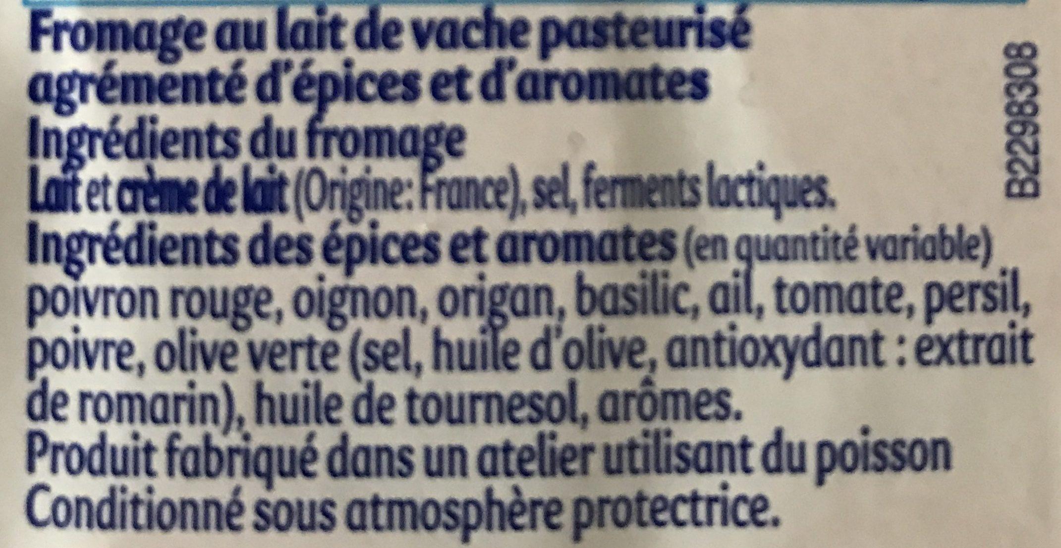 Apérivrais - Ingredients - fr