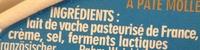 Caprice des Dieux (30 % MG) - Ingredienti