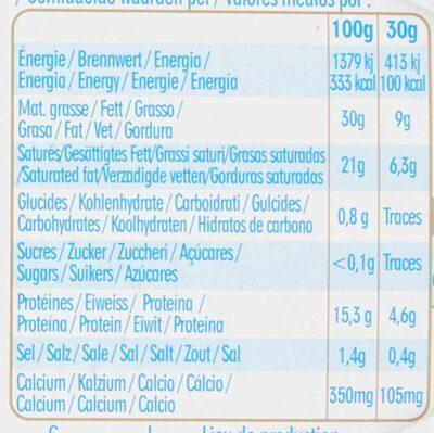 Caprice des Dieux - Nutrition facts - fr