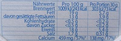 Geramont mit Joghurt - Voedingswaarden - de