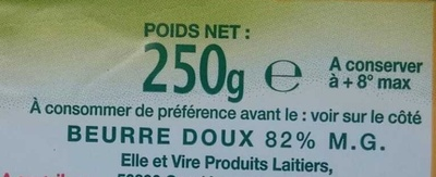Le Beurre Noisy doux - Ingrediënten - fr