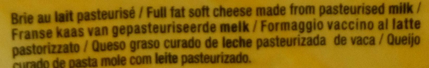 Le Bon Brie - Ingrédients