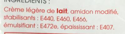 """Cuisinel sauces """"minute"""" liaison rapide économique - Ingrédients"""