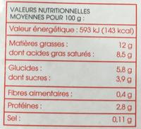 """Cuisinel sauces """"minute"""" liaison rapide économique - Informations nutritionnelles"""
