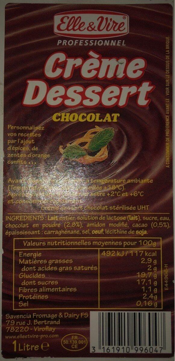Crème dessert chocolat - Product - fr