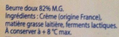 Le Mini Beurre Gastronomique - Ingrédients - fr