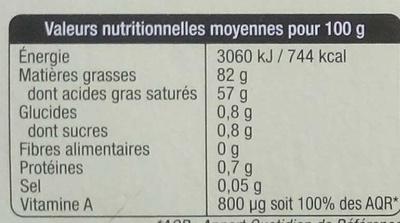 Le Mini Beurre Gastronomique - Informations nutritionnelles - fr