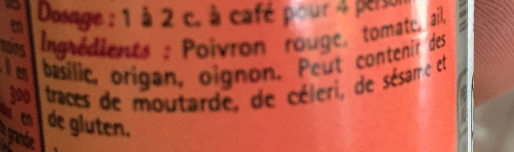 Mélange italien - Ingrediënten - fr