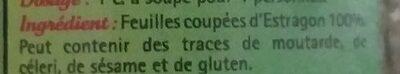 Estragon de France feuilles - Ingrediënten