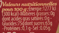Fruits confits assortis - Voedingswaarden - fr