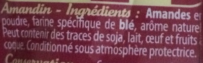 Amandin - Ingredients - fr