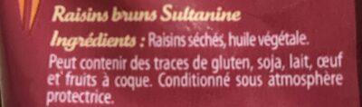 Raisins bruns sultanine - Ingrediënten