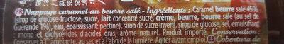 Nappage caramel beurre salé - Ingrédients