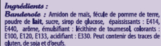 """Plaque + pic """"Joyeux Anniversaire SAINTE LUCIE - Ingredients - fr"""