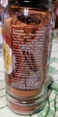 Cannelle moulue BIO - Informations nutritionnelles - fr