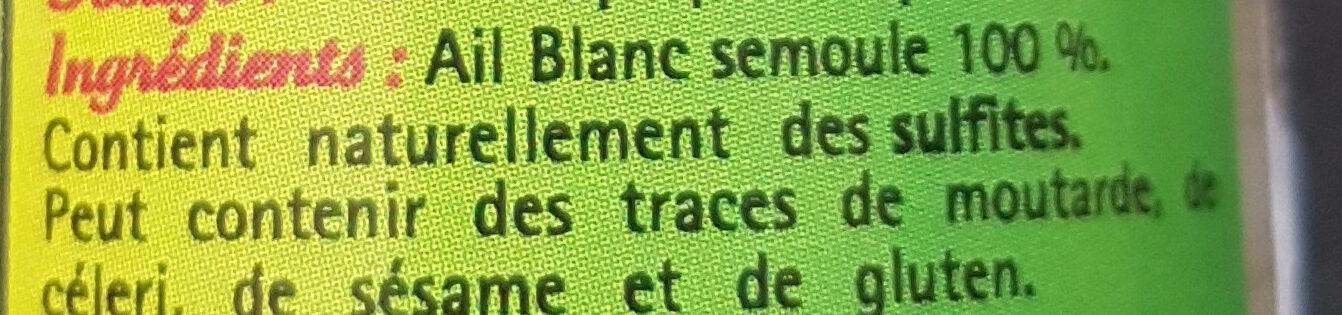 Ail blanc Semoule - Ingrédients