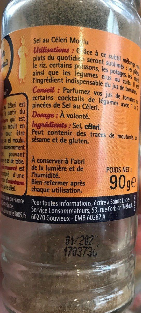 Sel au céleri moulu - Ingrediënten - fr