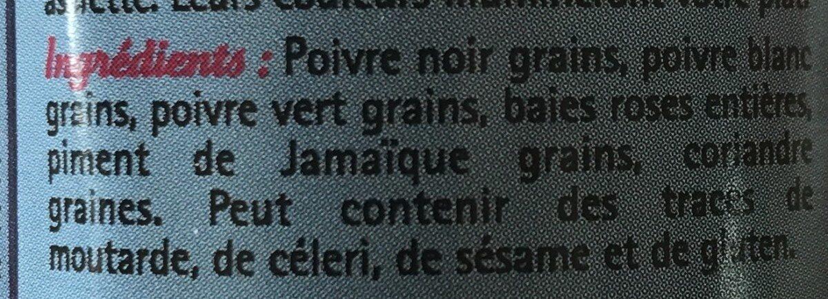 5 baies grains - Ingredients