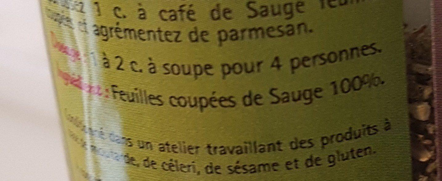 Sauge feuilles coupées - Ingrédients - fr