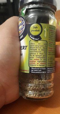 Anis vert grains - Ingrediënten - fr