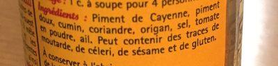 Mélange chili - Ingrediënten - fr