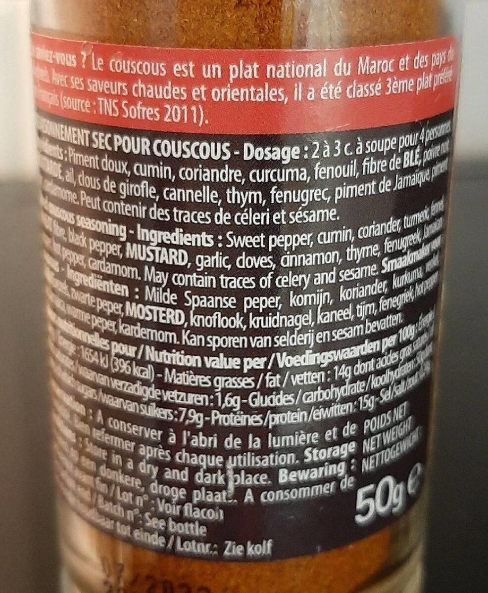 Mélange pour couscous - Informazioni nutrizionali - fr