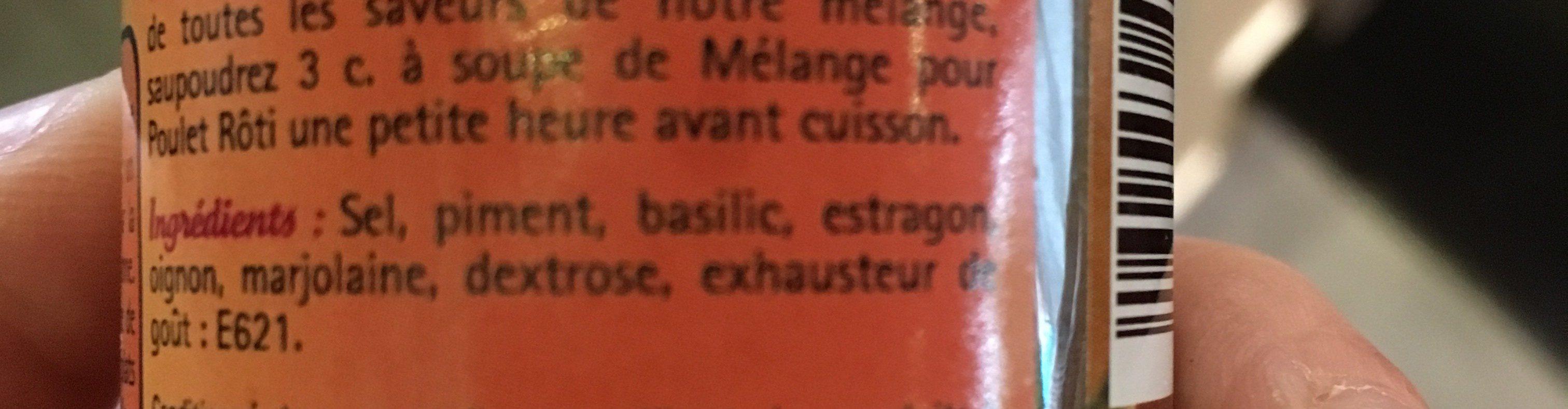 Mélange pour Poulet Rôti - Ingrédients