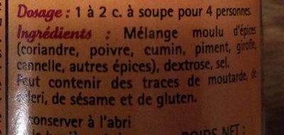 Garam masala - Ingrédients